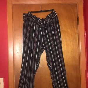 Charlotte Russe Like an Angel Tie Front Pants